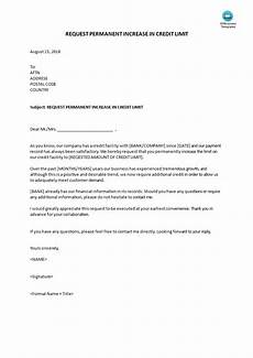 Letter For Increase Credit Limit Request Increase Of Credit Limit Templates At