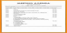 Agenda Of Meeting Sample Format Sample Formal Meeting Agenda Format Assignment Point