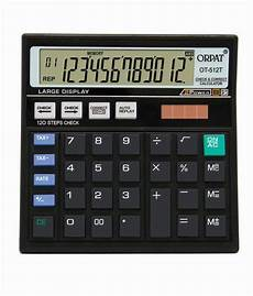 Buy Calculator Orpat Ot 512t Check Amp Correct Calculator Buy Online At