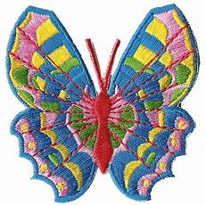 colorful rainbow butterfly iron on embroidery patch