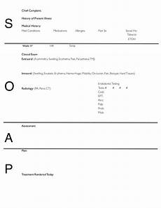 Soap Notes Templates Soap Notes Dentistry Pages Format
