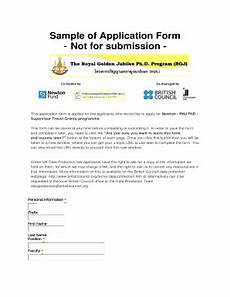 Sample Of Application Form Fill Online Printable
