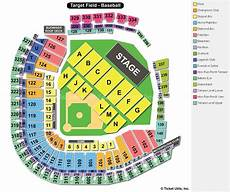Eagles Stadium Seating Chart Target Field Minneapolis Mn Seating Chart View