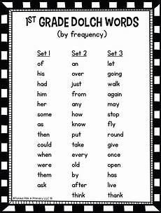 1st Grade Sight Words Dolch Dolch First Grade Sight Words Fluency Find It Tickled