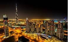 Dubai Night Lights Dubai Night Wallpaper Wallpapersafari
