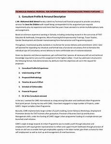 Management Consulting Proposal Consultant S Technical Amp Financial Proposal