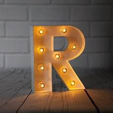 Metal Letters With Lights Wholesale White Marquee Light Letter R Led Metal Sign 8 Inch