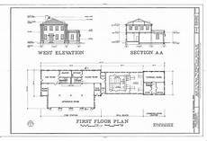 Floor Plan And Elevation West Elevation Section Floor Plan Macdill Air