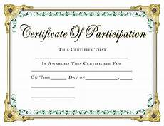 Sample Certificate Of Participation Scholastic Certificates Participation Certificate