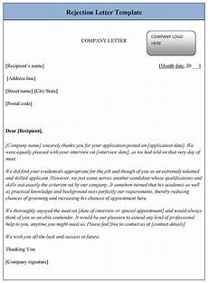 Rejection Letter Template Rejection Letter Template Sample Templates