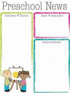 Preschool Newsletter Templates Clip Art Library