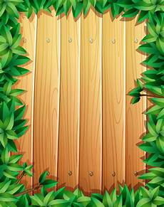 Green Border Design Border Design With Green Leaves On Wooden Wall Download