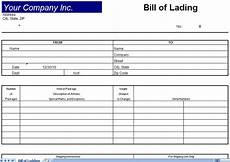 Bill Of Lading Template Free Download Bill Of Lading Template Bill Of Lading Form