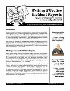Eiu Incident Report 9 Incident Report Writing Examples Pdf Examples