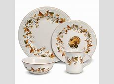 Pfaltzgraff Autumn Berry 16 Piece Dinnerware Set Filigree