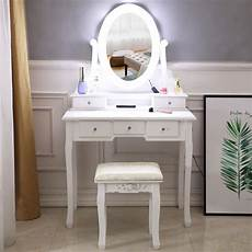 Vanity Table Set With Lights Zimtown Vanity Dressing Table Set With Lighted Makeup