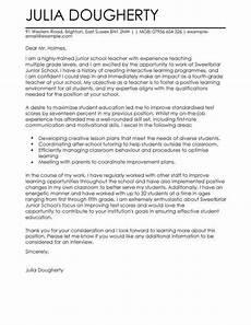 Cover Letter Teacher Template Teacher Education Cover Letter Template Cover Letter