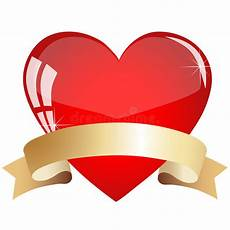 Heart With Ribbon Designs Heart With Ribbon Stock Vector Illustration Of Abstract