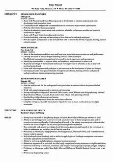 Mining Resume Sample Mine Engineer Resume Samples Velvet Jobs