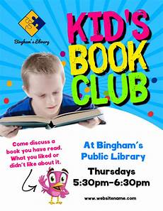 Book Flyers Examples Copy Of Kid S Book Club Flyer Postermywall