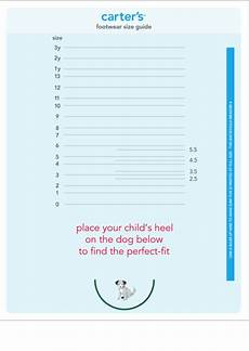 Carters Shoe Chart Carter S Footwear Size Guide Chart Printable Pdf Download