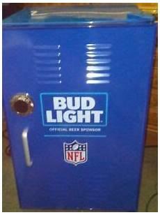 Bud Light Mini Bud Light Nfl Mini Locker Refrigerator Blue Man Cave Ebay