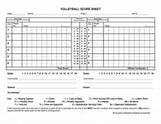 Volleyball Stat Sheet 23 Printable Volleyball Score Sheet Forms And Templates