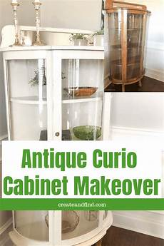 how to update an curio cabinet cabinet makeover