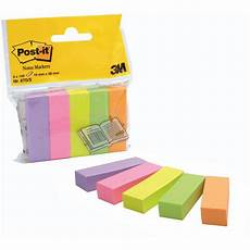 Post It Memo Post It 174 Notes Markers Small 15 X 50 Mm Assorted Neon