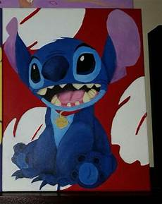 items similar to lilo and stitch stitch acrylic painting