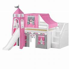 slide loft bed with staircase castle bed princess