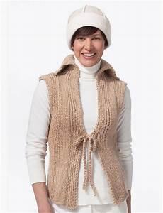 tie front knit vest favecrafts