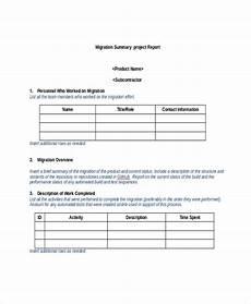 Project Summary Template 8 Project Summary Templates Free Word Pdf Document