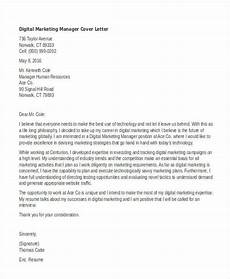 Cover Letter Examples Marketing 11 Marketing Cover Letter Templates Free Sample