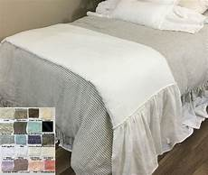 linen ruffle bed scarf bed runner colors awe