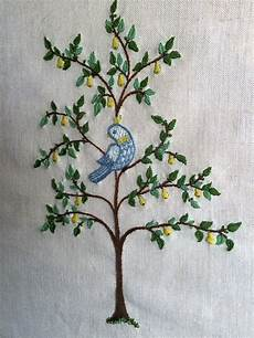 embroidered pear tree embroidery applique needle