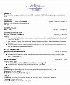 Resumes For Graduating College Students College Student Resume 8 Free Word Pdf Documents