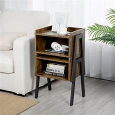 yaheetech 2 tier bedside table nightstand with storage for