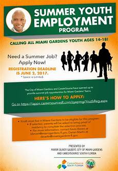 Summer Employment Summer Youth Employment Program Now Accepting Applications