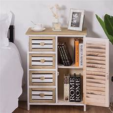Costway Wooden Laundry Cabinet Bin Chest Storage Cupboard Home by Costway Costway Wooden Free Standing Storage Cabinet 4