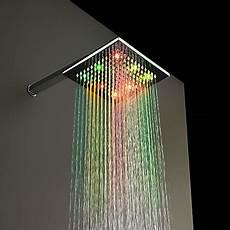 Rain Shower With Led Lights Contemporary Rain Shower Chrome Feature For Led Rainfall
