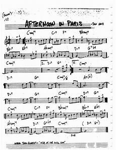 Alice In Wonderland Jazz Chart Jazz Standard Realbook Chart Afternoon In Paris Guitar