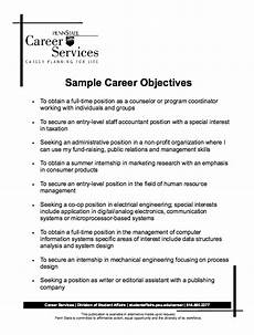 What Are Some Good Objectives To Put On A Resumes Sample Career Objectives Resume Resume Objective