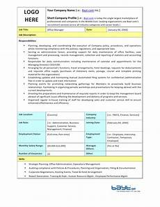 Office Job Description Office Manager Job Description Template By Bayt Com