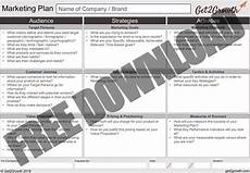 1 Page Marketing Plan One Page Marketing Plan Template In Powerpoint Word