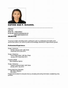 Resume Search Philippines Daphne New Resume For Job