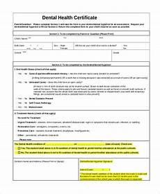 Health Certificate Sample Free 10 Sample Health Certificate Forms In Pdf Excel Word