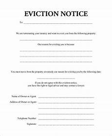 Free Eviction Form Free 10 Eviction Notice Examples Amp Samples In Pdf