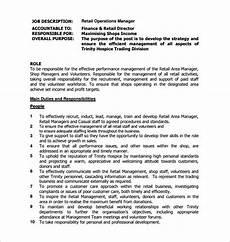 Operations Associate Job Description 9 Operations Manager Job Description Templates Free