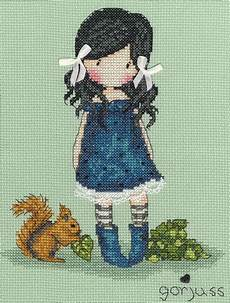 Gorjuss Cross Stitch Charts You Brought Me Love Cross Stitch Kit By Bothy Threads
